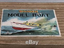 Cabin Cruiser wooden model boat ITO Model K K Japan with original box