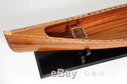 Canoe Curved Bow 44 Cedar Strip Wood Boat Model For display Only Assembled
