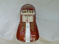 Cedar Wood Riva Aquarama 24 Cream Quality Model Boat L60 Beautiful Italian Boat