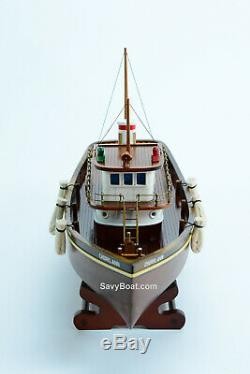 Cheryl Ann Tug Boat Model Wooden Ship 20 Handcrafted Assembled 1955 Waterfront