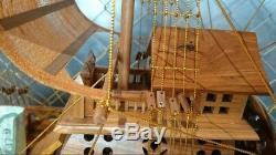 Chinese Junk Clipper 23 Teak Wood Built Model Boat Assembled THAI Hand Craft