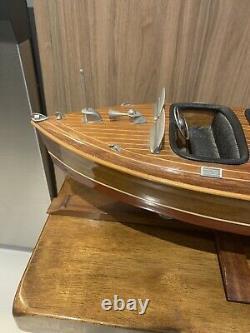 Chris Craft Barrel Back Runabout Speed Boat Wooden Display Model