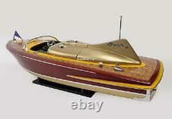 Chris Craft Cobra Handcrafted Wooden Model Boat Ready To Display