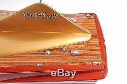 Chris Craft Cobra Speed Boat Painted 33' Wood Model Ship Assembled