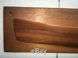 Chris Craft Original Half Hull Wood Ship 1909 Chris Smith Dart Boat Model 1/1