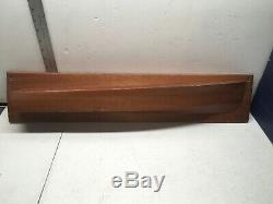 Chris Craft Original Half Hull Wood Ship Chris Smith Boat Model 1/1 26 Runabout
