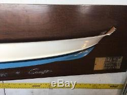Chris Craft Original Half Hull Wood Ship Chris Smith Boat Model 1/1 Blue White