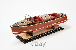 Chris Craft Runabout 21 Handmade Wooden Classic Boat Model NEW