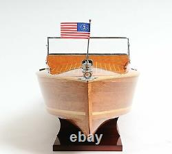 Chris Craft Runabout Boat Handrafted Wooden Model Display