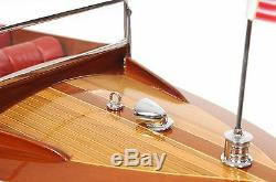 Chris Craft Runabout Speed Boat Double Cockpit 25 Built Wooden Model Assembled