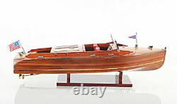 Chris Craft Runabout Wood Model 24 Classic Mahogany Racing Speed Boat New