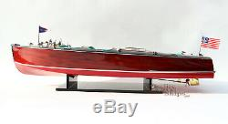Chris Craft Triple Cockpit 26 Handmade Wooden Model Speed boat