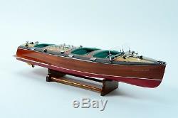Chris Craft Triple Cockpit Handmade Wooden Classic Boat Model 28