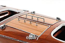 Chris Craft Triple Cockpit Runabout Speed Boat 25 Built Wood Model Assembled