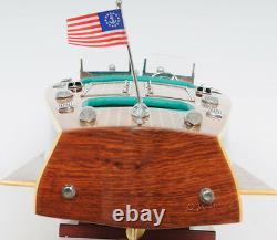 Chris Craft Triple Cockpit Speedboat 32' Built Wood Model Ship Assembled