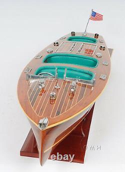 Chris Craft Triple Cockpit Speedboat 32' Wood Model Ship Assembled