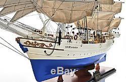 Christian Radich Norwegian Tall Ship Sailboat 37 Wood Model Boat Assembled