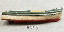 Circa 1920 American Folk Art Ethel Pond Boat Speedboat Model