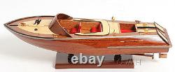 Classic Runabout Speed Boat Wood Model 16 Powerboat Handcrafted Fully Built New