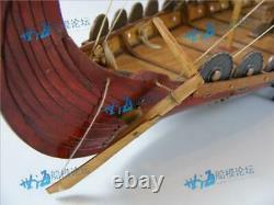 Classic wooden Viking ships, assembly model ship building DIY