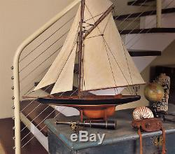 Columbia 37 America's Cup 1901 J Class Yacht Wood Sailboat Sail Boat Model New