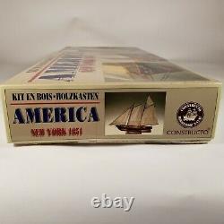 Constructo 1/56 Scale'America' New York 1851 P. O. F. Wood Ship Model Kit c. 1987