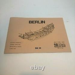 Corel SM 29 Berlin 1680 140 Scale Wood Ship Model Kit New
