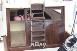 Custom 1968 CrisCraft Sport Fish Remote Control Gas Model Boat RARE LOOK