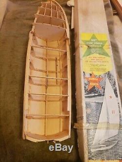 DUMAS 30 Star Class Sail Boat Kit Wood Model Vintage RC