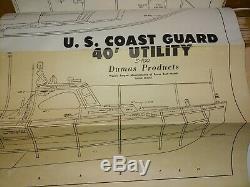 DUMAS Chris-Craft US Coast Guard Utility Wood Boat Model Construction Kit withBox