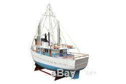 Dickie Walker XXXL Fishing Boat Over 10 Feet Built Wood Model Ship Assembled