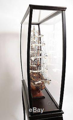 Display Case 40 Cabinet Wood and Plexiglass for Tall Ship, Yacht, Boat Models