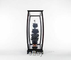 Display Case Cabinet Wood With Plexiglass 34 For Tall Ship, Yacht, Boat Models