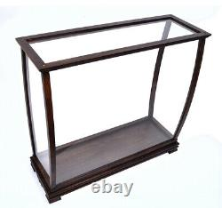 Display Case Wood Table Top Cabinet Acrylic Glass34 Ships And Boats Models