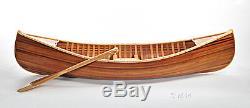 Display Cedar Strip Built Canoe 6' Small Wooden Model Boat Flat Matte Finish New