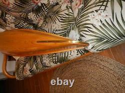 Display Wood Strip Built Canoe 60 Wooden Model Boat