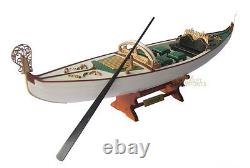 Display Wooden Gondola Model Boat
