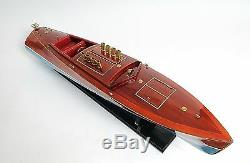 Dixie II American Challenger Speed Boat 36 Built Wood Model Ship Assembled