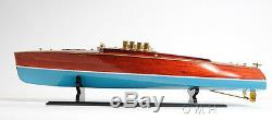 Dixie II Racing Hydroplane Speed Boat Wood Model Runabout 36 Fully Assembled