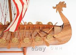 Drakkar Dragon Viking Longship Wooden Ship Model Boat 25 Assembled Sailboat New