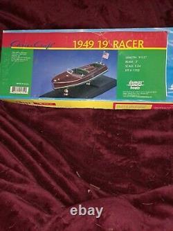 Dumas 1949 19' Racing Runabout Kit Wooden Boat Model Kit #1702