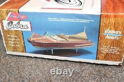 Dumas 27 Long 1950s 18' Chris Craft Cobra Wooden Model Boat Kit New Old Stock