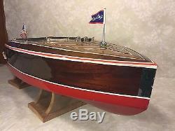Dumas Chris-Craft Runabout Remote Control Boat Astro-21 Motor 1938 Model #1241