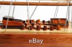 Endeavour America's Cup J Class Yacht Wood Model 24 Boat Sailboat New