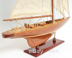 Enterprise 1930 America's Cup Yacht J Class Boat Wooden Model 25 Sailboat New