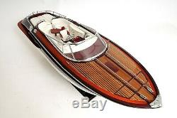 Exclusive Edition 37 Large RIVARAMA E. E. MODEL BOAT Wood Display Collectible