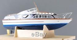 Fairey Huntsman 31 Boat Model Wooden boat kit and stand 1/16 scale