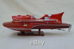 Ferrari Hydroplane 15 Beautiful Wooden Model Boat L40 Handmade Xmas Gift
