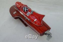 Ferrari Hydroplane 15 Beautiful Wooden Model Boat L40 Xmas Gift Free Shipping