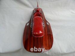 Ferrari Hydroplane 20 Beautiful Wooden Model Boat L50 Xmas Gift Free Shipping